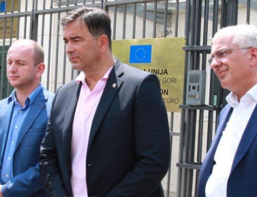 Lideri DF-a sa šefom Delegacije EU u CG: Nezakonito ponašanje Katnića (VIDEO)