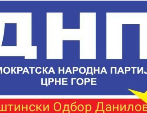 DNP Danilovgrad: Oslobodićemo sugrađane Miraševog DPS-a